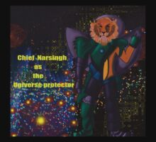 Chief Narsingh as the Universe protector Kids Clothes