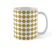 White Gold Dot Pattern Mug