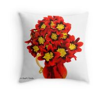 Mystery Flowers Throw Pillow