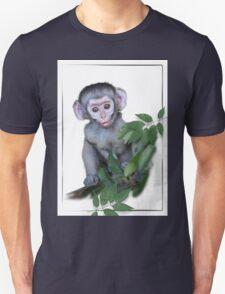 Vervet Monkey baby on white background Unisex T-Shirt