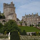 Drummond Castle, Perthshire, Scotland, from gardens by BronReid