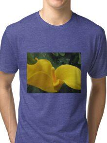 Golden Calla Lily - Macro Untouched Tri-blend T-Shirt