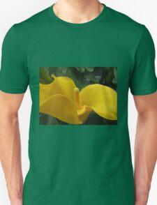 Golden Calla Lily - Macro Untouched Unisex T-Shirt