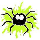 Spider Splat - Green by Calvin Innes