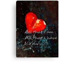 My All - Love Romantic Art Canvas Print