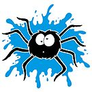 Spider Splat - Blue by Calvin Innes
