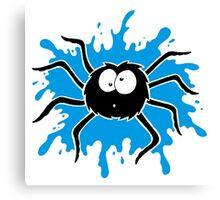 Spider Splat - Blue Canvas Print