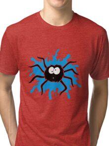 Spider Splat - Blue Tri-blend T-Shirt