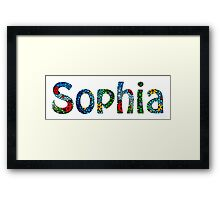 Customized Baby Kids Adults Pets Names - Sophia Name Framed Print