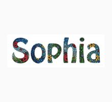 Customized Baby Kids Adults Pets Names - Sophia Name Kids Clothes