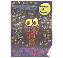 The Wise Old Owl and the Present Moon. Poster