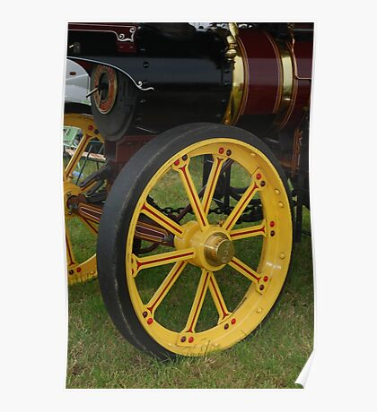 Traction Engine Front Wheel Poster