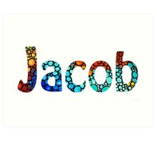 Customized Baby Kids Adults Pets Names - Jacob 2 Name Art Print