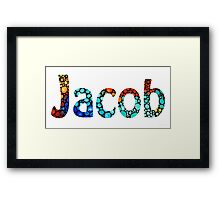 Customized Baby Kids Adults Pets Names - Jacob 2 Name Framed Print