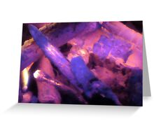 a rising Violet Flame Greeting Card