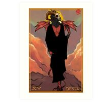 Tarot Series: XV Devil Art Print
