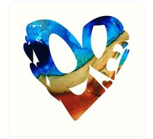 Love 6 - Heart Hearts Romantic Art Art Print