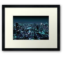 Osaka City by Night Framed Print