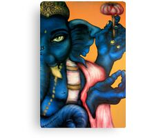 Royal Blue Ganesha Canvas Print