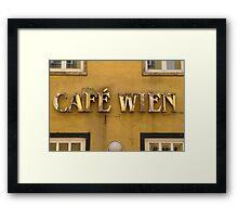 Café Wien Framed Print