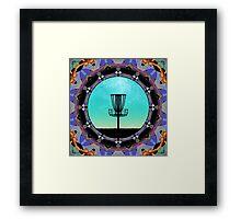 Disc Golf Abstract Basket 3  Framed Print