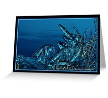 """Blue IceArt"" Greeting Card"