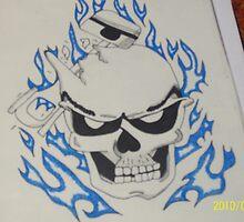 hot rod skull by skullmania