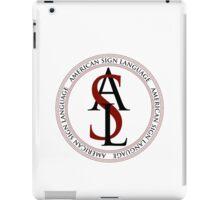 American Sign Language Logo iPad Case/Skin