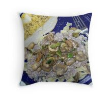 Fresh Mushroom Stroganoff Throw Pillow