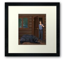 A Bear in the Woods - Vincent & Christian Framed Print