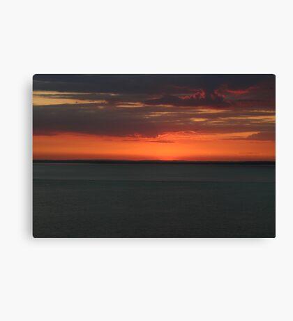 Red dusk Canvas Print