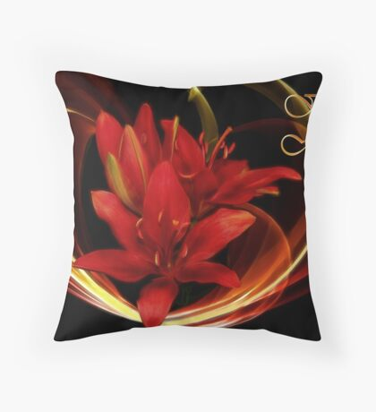 Mother's Day Lilies Throw Pillow