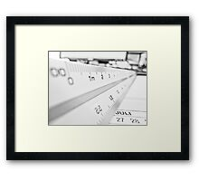 Scale Framed Print