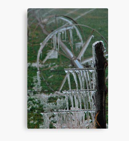 Irrigation on Ice - Junction, Utah Canvas Print