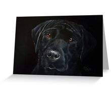 Black On Black Greeting Card