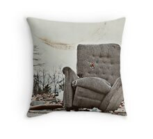 Abandoned Comfort Throw Pillow