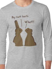 Funny Bitten Chocolate Bunnies T Shirt Long Sleeve T-Shirt