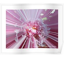 """Pink Peony"" Poster"