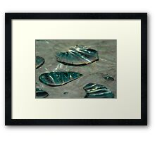 ©NS Drops Abstract IA. Framed Print