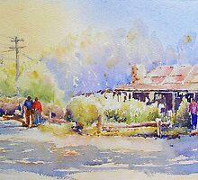Slab Hut Orbost by Christine Lacreole