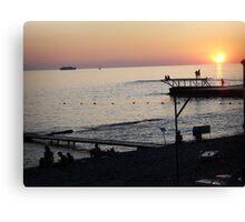 carefree evening- Black Sea Canvas Print