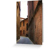 Moped in allyway - Italy Greeting Card