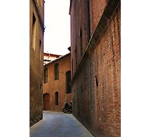 Moped in allyway - Italy Photographic Print