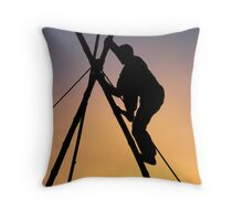 The End Of All Stunts Throw Pillow