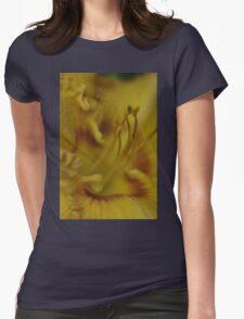 macro Daylily - my garden, Ottawa, Ontario Womens Fitted T-Shirt
