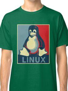 Linux tux penguin obama poster Classic T-Shirt