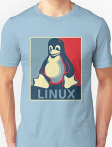 Linux tux penguin obama poster Unisex T-Shirt