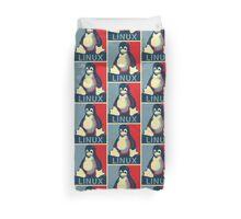 Linux tux penguin obama poster Duvet Cover