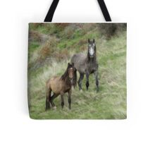 Mare And Her Yearling Tote Bag