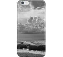 Black and White Fishing Shack, Färö Island, Sweden iPhone Case/Skin